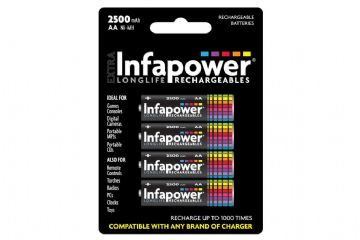 Infapower Rechargeable Ni-Mh Batteries 4 x AA 2500mAh